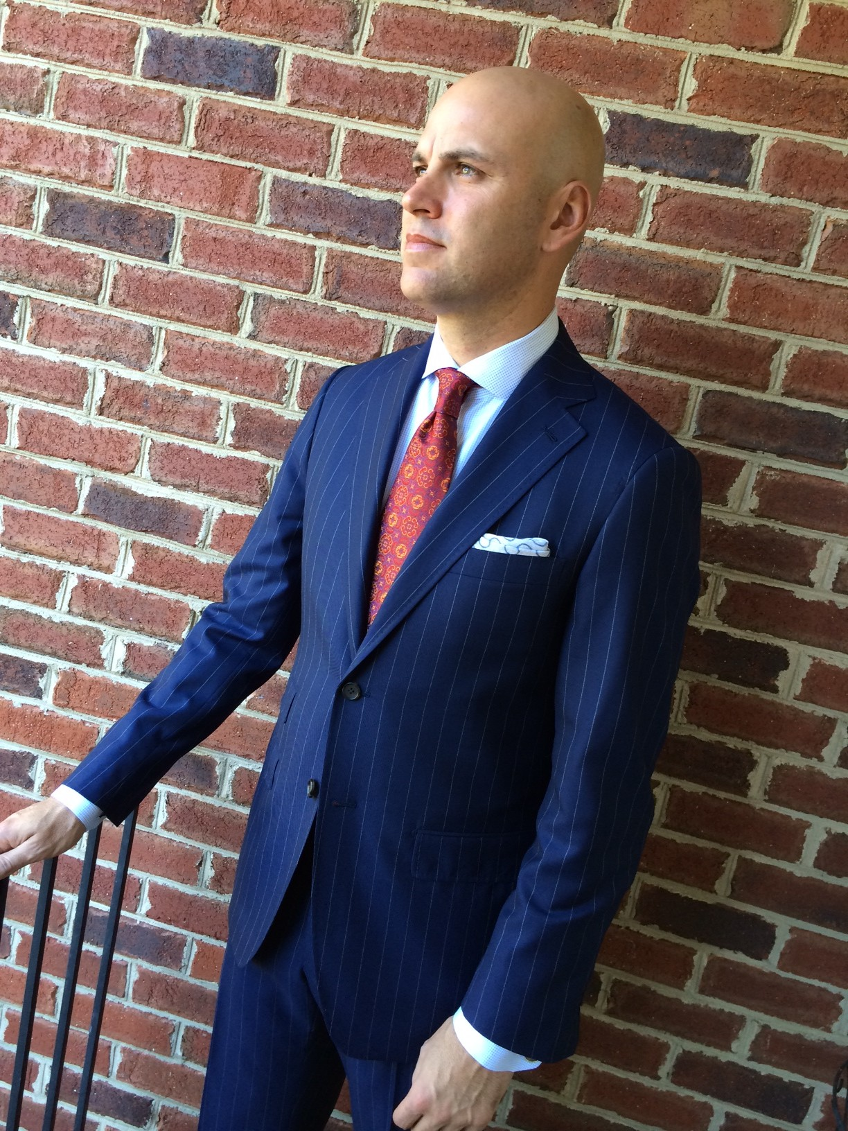 blue striped suit full image - JMac's Clothiers