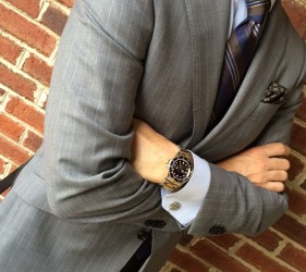 Custom gray suit by Jmac's Clothiers