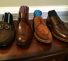 JMac's Clothiers' shoes and socks.