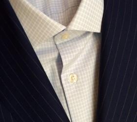 Custom Blue striped suit by Jmac's Clothiers.